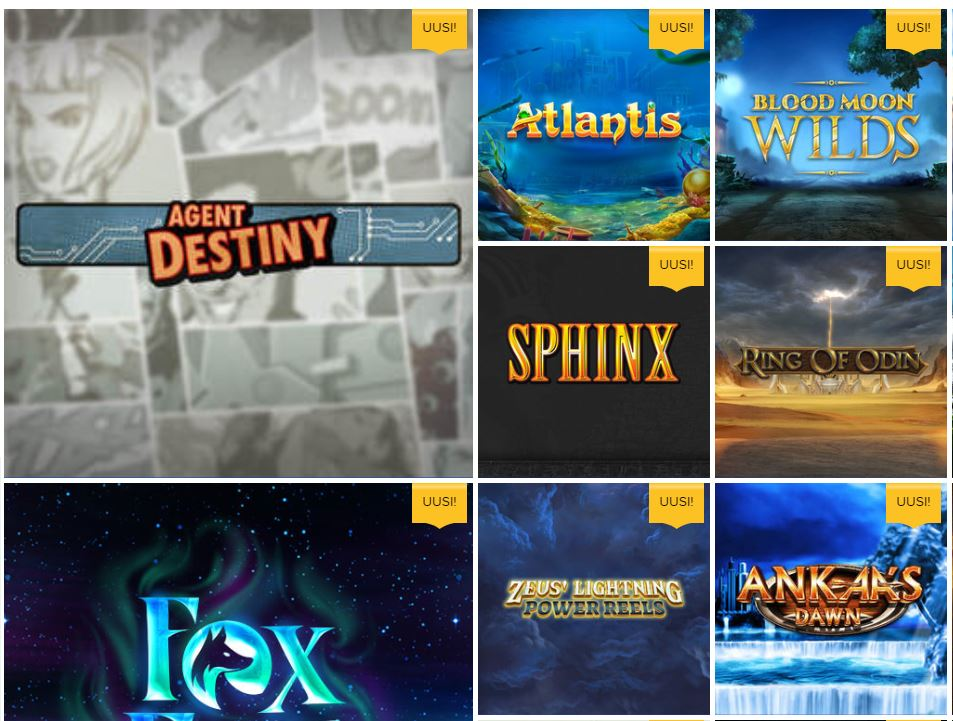 Ahti Gamesin uudet pelit