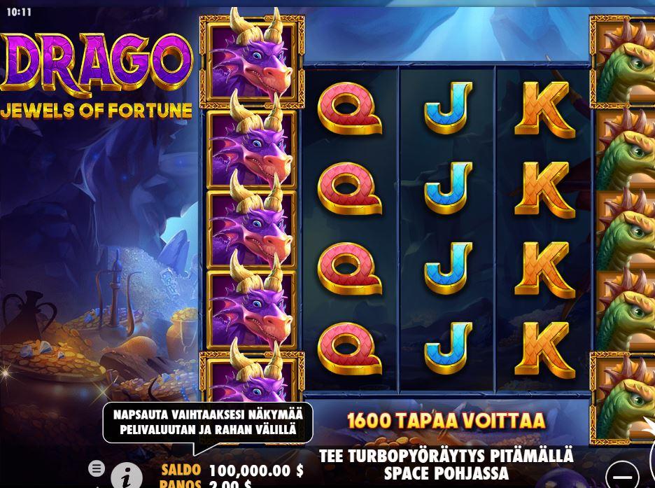 Drago - Jewels of Fortune kolikkopeli